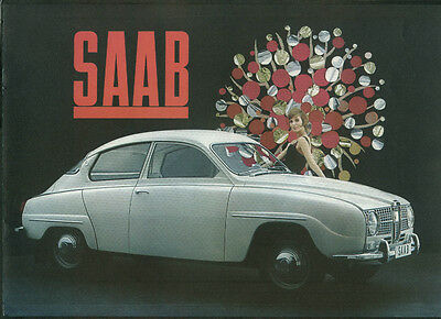 Saab Sedan sales brochure print code 8.1964 1965