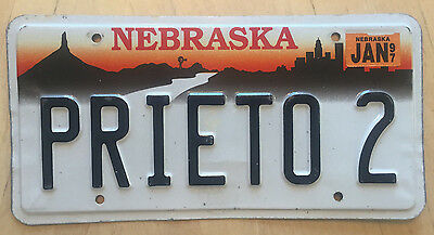 "Nebraska  Vanity License Plate "" Prieto 2 """