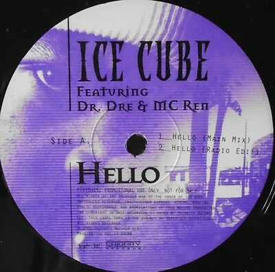 "ICE CUBE - Hello ~ 12"" Single PROMO"
