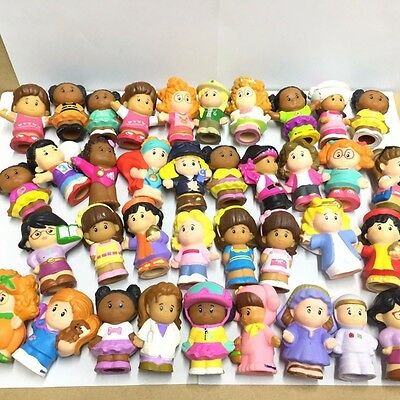"Kids Dolls Random Lot 10pcs Fisher Price LITTLE PEOPLE ALL GIRLS 2"" Figures Toys"