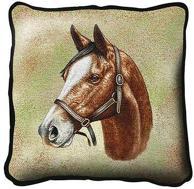 "17"" x 17"" Pillow - Thoroughbred 1732"