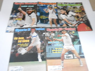 (5) 1970s 1980s SPORTS ILLUSTRATED magazine lot - TENNIS