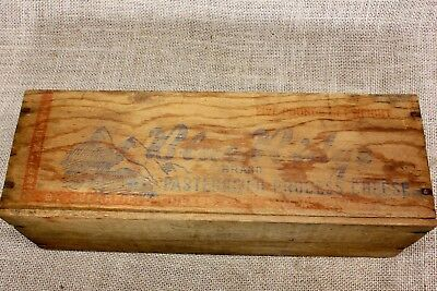 wood CHEESE box BLUE RIDGE Mountains picture vintage old country decoration