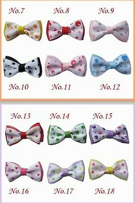 "50 BLESSING Good Girl Boutique 2"" Butterfly Bowknot Hair Bow Clip Accessories"