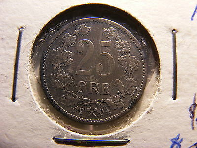 Norway Silver 25 Ore, 1904
