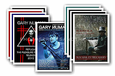 GARY NUMAN - 10 promotional posters - collectable postcard set # 5