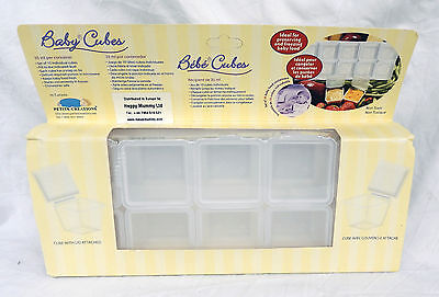 Baby Cubes -Box Ten 35ml Lidded Baby Food Containers - Ideal for Freezing -  NEW