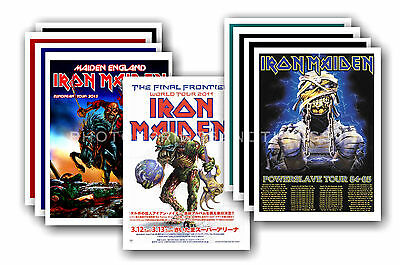 IRON MAIDEN - 10 promotional posters - collectable postcard set # 2