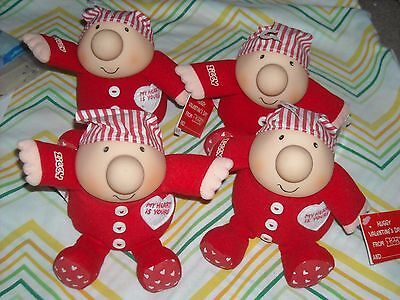 Lot of 4 Plush ZIGGY Valentine's Day Vintage