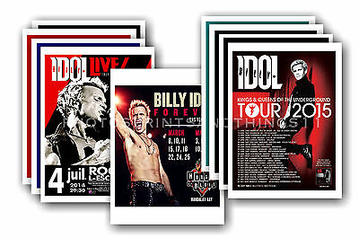 BILLY IDOL  - 10 promotional posters - collectable postcard set # 1