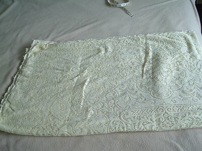 "Vintage Quaker Lace Tablecloth - 70"" X 90"""
