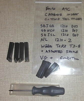 Emco Compact 5 & PCTurn CNC Lathe Carbide Insert Tool Holder Set   062717