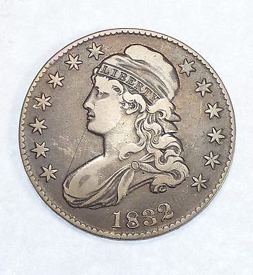 BARGAIN 1832 Capped Bust/Lettered Edge Half Dollar EXTRA FINE Silver 50c