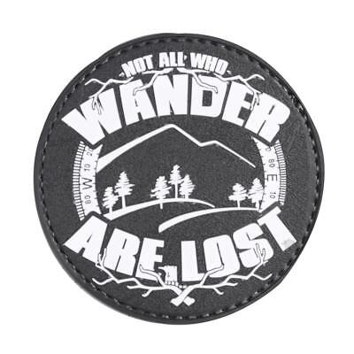 """5ive Star Gear Not All Who Wander Are Lost Night Glow PVC Morale Patch, 2.75"""""""