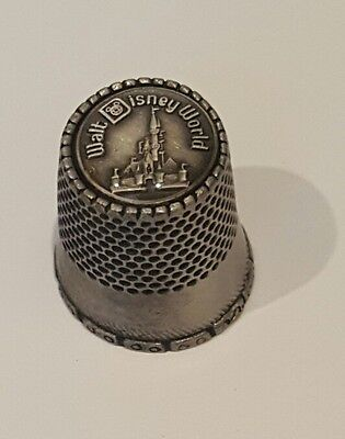 Vintage Collectible Pewter Walt Disney World Sewing Thimble Authentic