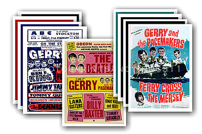 GERRY & THE PACEMAKERS  - 10 promotional posters - collectable postcard set # 1