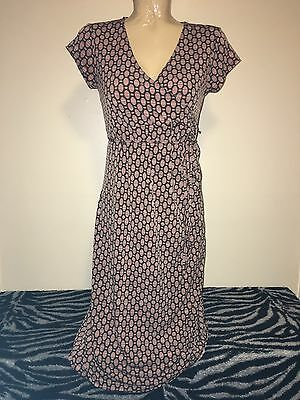 "Liz Lange Maternity Brown V Neck Cap Sleeve Dress X Small XS 17.5"" Chest"