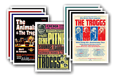 THE TROGGS  - 10 promotional posters - collectable postcard set # 1