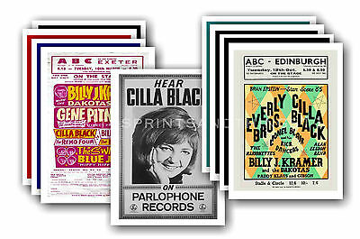 CILLA BLACK  - 10 promotional posters - collectable postcard set # 1