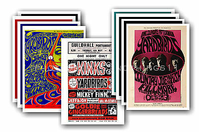 THE YARDBIRDS  - 10 promotional posters - collectable postcard set # 2