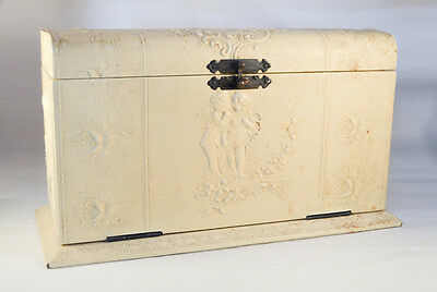 Gorgeous Celluloid  Hinged Box With  Embossed Exterior