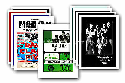 DAVE CLARK FIVE  - 10 promotional posters - collectable postcard set # 1
