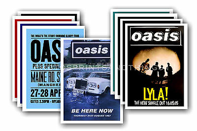 OASIS - 10 promotional posters - collectable postcard set # 1