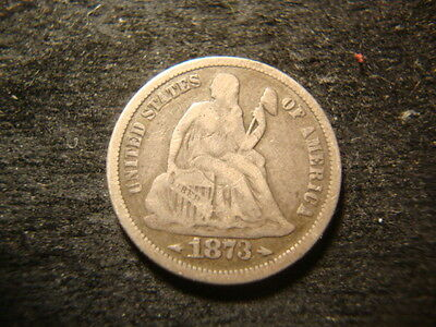 1873  Seated Liberty Dime  Check For P O CC S UTH