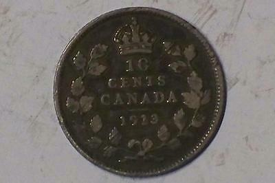 1913 CANADIAN 10 CENT PIECE VERY GOOD GEORGE V REVERSE #7071 glcw