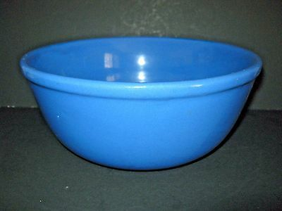 Vintage OXFORD WARE Med. Lg. Blue Stoneware Mixing Serving Bowl , Very Good Cond