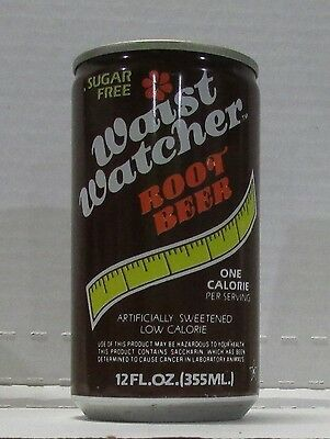 waist watchers root beer with exercising tip on can steel soda can #249