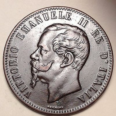 1867T 10 CENTESIMI ITALY - BOLD with EYE APPEAL!! MUST TAKE A LOOK!!