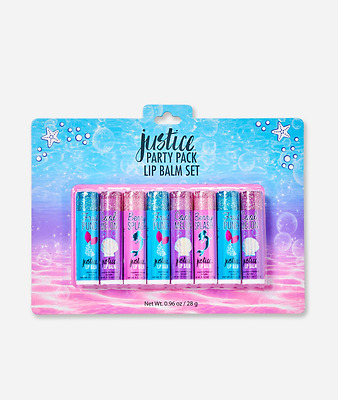 Justice Girl's MERMAID Party Pack Lip Balm Set New in Package