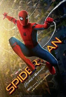 Marvel SPIDER-MAN HOMECOMING 2017 Original DS 4x6' US Bus Shelter Movie Poster