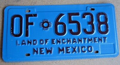 """New Mexico Official State Vehicle  License Plate  """" Of 6538 """"  Rare Type Exempt"""
