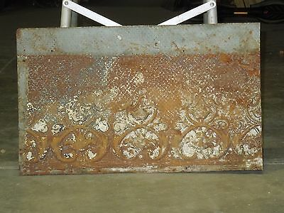 "Old Antique ( Metal )  tin ceiling tile tiles 24""x 14"" filler,"