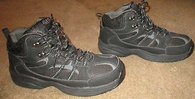 New Mens Shoes For Crews Summit Non-Slip Black Hiker Boots Style# 8079