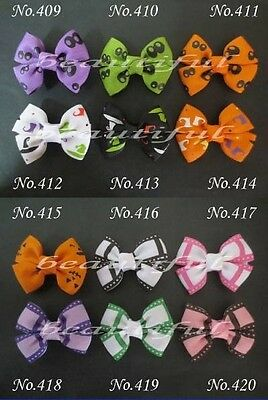 "50 BLESSING Good Girl Custom Boutique 2.5"" Bowknot Hair Bow Clip #420 Wholesale"