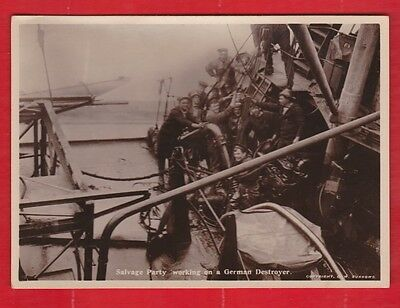 Salvage party on a German destroyer, Scapa flow, Orkney. C.W. Burrows, photo