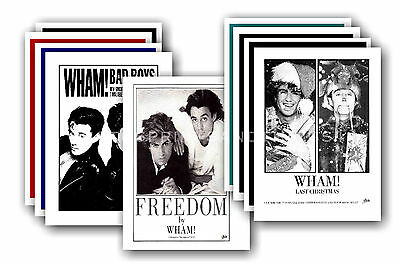 WHAM / GEORGE MICHAEL  - 10 promotional posters - collectable postcard set # 2