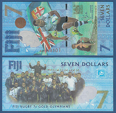 FIJI  7 Dollars (2017) Commemorative UNC  P.NEW