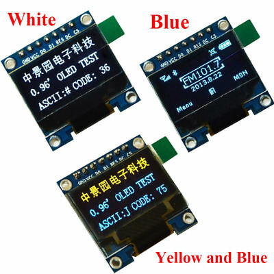 "0.96in I2C IIC SPI Serial 128X64 OLED LCD LED Display Module 0.96"" for Arduino"