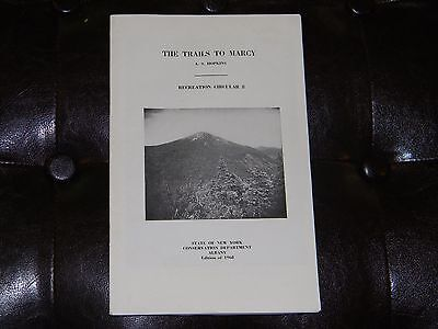 Vintage 1968 THE TRAILS TO MARCY + MAP Circular Book New York Conservation