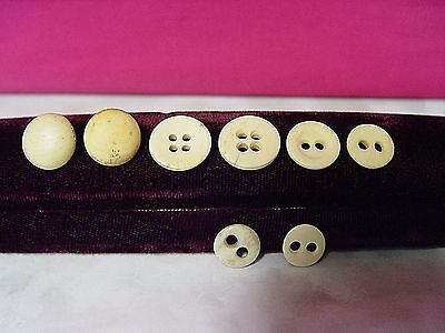 Antique Carved Bone Screw-Top & Sewing Button Mixed Lot