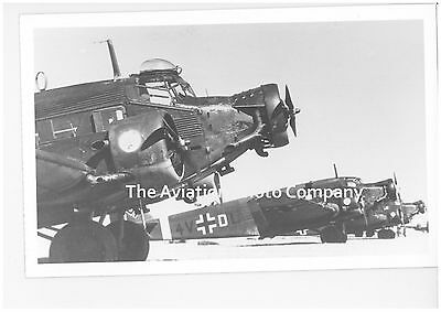 German Air Force Junkers Ju52 4V+DL Vintage Photograph