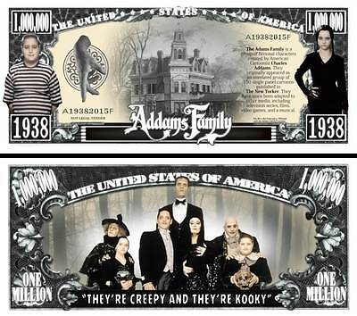 The Addams Family Novelty Dollar with semi rigid Protector and Free shipping