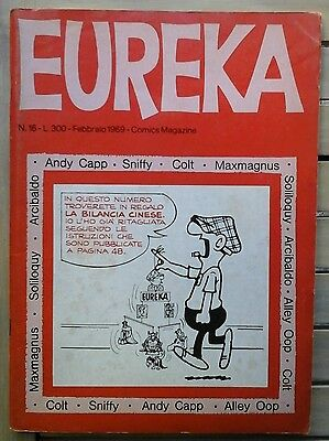 EUREKA N.16 editoriale corno 1969 maxmagnus bruno bozzetto alley oop will-yum