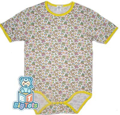 BIG TOTS BABY THINGS adult size bodysuit baby fabric