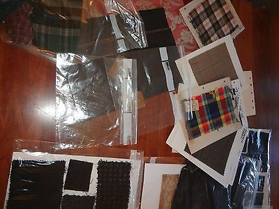 Vintage antique fabric sample lot mixed ages some carded museum deacess as is
