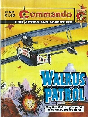 Walrus Patrol,commando For Action And Adventure,no.4414,war Comic,2011